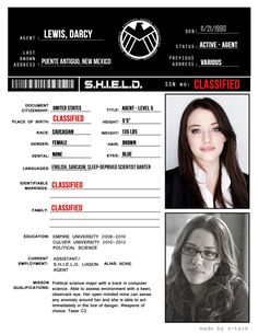 Personnel Files: Darcy Lewis [requested by anonymous] Marvel Funny, Marvel Memes, Marvel Dc Comics, Marvel Avengers, Agents Of Shield, Marvel Cinematic Universe, Sebastian Stan, Fandoms, Darcy Thor