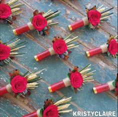Wildflower Red Shot Gun Shell Boutonniere, Buttonhole, Lapel, Pin-on, Corsage – bouquetofsunflowers Camouflage Wedding, Camo Wedding, Rustic Wedding, Shotgun Wedding, Cowgirl Wedding, Dream Wedding, Wedding Groom, Field Wedding, Bullet Casing Crafts