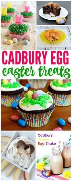 Cadbury Easter Egg Treats! Easy Easter Treats for Easter Parties and Egg Hunts! Creative ways to celebrate for spring!