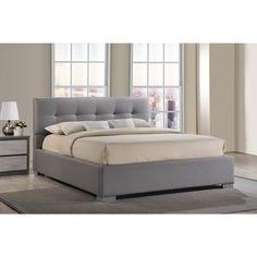 Baxton Studio Regata Contemporary Grey Fabric Upholstered Platform Bed