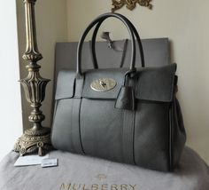 Mulberry Bayswater in Graphite Pebbled Leather - SOLD 6a149415280d1