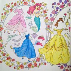 アリエルのキスザガール服が一番好き ボートのシーンとか塗り絵になったらテンション上がる✨ #coloringbook #coloriage #コロリアージュ #塗り絵 #大人の塗り絵 #ディズニー塗り絵 #ディズニーガールズ #ディズニーガールズカラーリングブック
