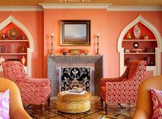 Paint Color Portfolio: Salmon Living Rooms