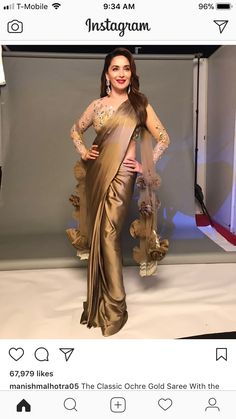 11 amazing saree styles looks to inspire you 8 Trendy Sarees, Stylish Sarees, Fancy Sarees, Saree Gown, Satin Saree, Saree Draping Styles, Saree Styles, Saree Blouse Patterns, Saree Blouse Designs