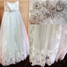 Can't help but gush over this gorgeous Enzoani Ghislaine, here in our bridal store! 241 Easton Rd. Dariannabridal.com