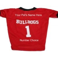 Personalized Georgia Bulldogs Dog Jersey | Doggie Sports