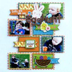 cute egg hunt layout