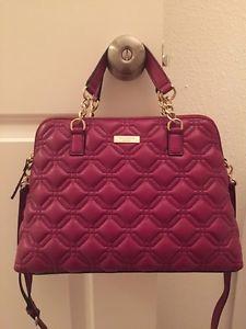 Kate Spade Astor Court Elena Satchel Shoulder Bag Quilted Leather ... : kate spade red quilted bag - Adamdwight.com