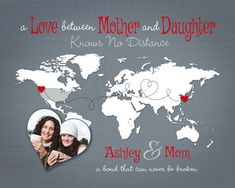 Christmas Gift for Mom Long Distance Present by KeepsakeMaps