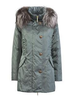 CARNABY - <p>parka in strong fabric - real natural down padding submitted to waterblock treatment - pockets with flap - handwarm pockets - press studs - detachable hood - waist drawstring - regular fit - also available with silver fox trimming fur</p>