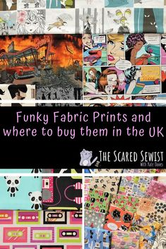 Funky Fabric Designs and Where to Buy Them in the UK Handmade Gifts For Boyfriend, Handmade Gifts For Friends, Easy Handmade Gifts, Handmade Baby, Diy Gifts, Diy Projects Geek, Fabric Stamping, Novelty Fabric, Fabric Sewing