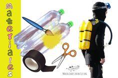 Necesitas:   2 Botellas de plástico recicladas de 2L cada una  Pintura en spray o acrílico de color amarillo  Cinta negra aislante  G...