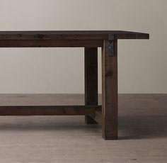 Metal Frame Poplar Wood Table By BrushAndMallet On Etsy Wish List Pintere