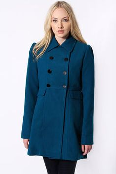 Cara Formal Fitted Double Breasted Collar Coat