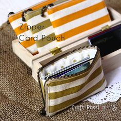 How-To: Zippered Card Pouch