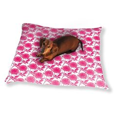 Uneekee Roses In Full Bloom Dog Pillow Luxury Dog / Cat Pet Bed