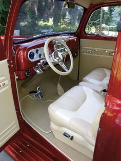 interior for 1948 ford truck | 1948 Ford F1 Optimal Leather Interior