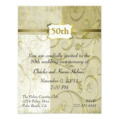 Chic Gold Anniversary Invitation This site is will advise you where to buyThis Deals          Chic Gold Anniversary Invitation lowest price Fast Shipping and save your money Now!!...