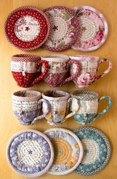 Текстильная посуда для чайных пакетиков. Выкройки.
