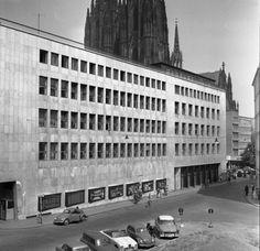 """Broadcasting center of """"Westdeutscher Rundfunk"""" (1948-52) in Cologne, Germany, by Peter Friedrich Schneider"""