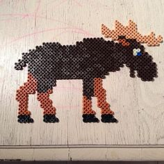 Moose hama beads by helleryom