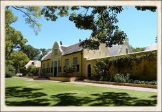 Vergelegen homestead - front view, via Flickr. Cape Dutch, House Architecture, Wineries, Homesteading, South Africa, Scenery, Exterior, Mansions, House Styles