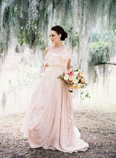An Alternative to Ivory - 10 Inspiring Blush Wedding Dresses for 2013 | OneFabDay.com UK