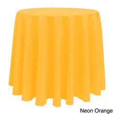 Color 90-inches Round Colorful Tablecloth