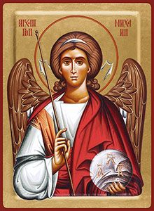 3/09 - Archangel Michael, icon Serbian Christmas, Paint Icon, Orthodox Christianity, Angel Statues, Archangel Michael, Religious Icons, Angels And Demons, Jesus Loves Me, Patron Saints