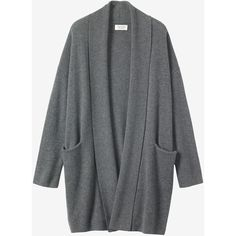 Toast Cashmere Wool Wrap Cardigan ($472) ❤ liked on Polyvore featuring tops, cardigans, charcoal melange, charcoal cardigan, drop shoulder tops, wrap top, wrap style tops and cardigan top