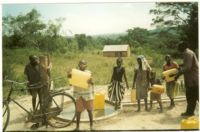 Jerry cans, discarded fuel receptacles, are used by children all over the world to collect contaminated water. Learn more about how WaterHope uses them as a symbol of HOPE.     http://www.waterhope.org/events_walkthewalk_jerrycan.php