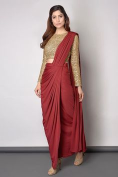 Gold And Maroon saree  Elegant Saree  CLICK Visit link for more info #beautifulsarees #classysaree