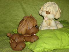 perros en porcelana fria