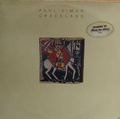 PAUL SIMON Graceland 1986 German Issue Album Lp 33 rpm Vinyl Record Music Pop Rock Folk garfunkel Africa 80s 925447-1 Free s&h