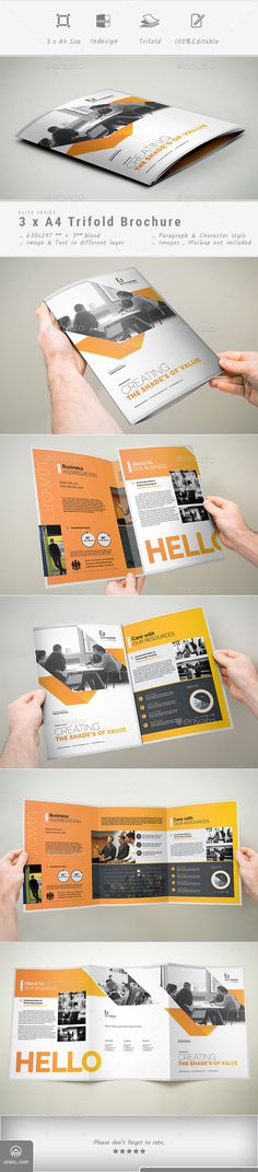 #Trifold Brochure - Corporate Brochures Download here:  https://graphicriver.net/item/trifold-brochure/19178764?ref=alena994