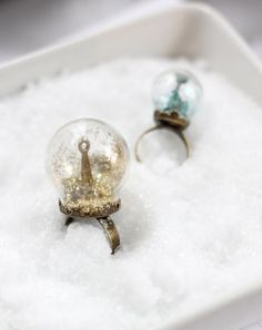 Glitter Snow Globe Ring DIY