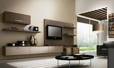 Sala de estar em Castanho Dourado e Argenato Bronze