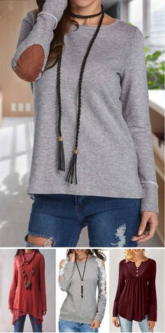 long sleeve tops for fall