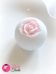 Candied Flower Bath Bomb Fizzy - Handmade Bath and Body - Bath Soak - Vegan - 5oz