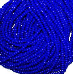 Dark Blue Opaque Seed Beads E Beads 6/0 Czech Seed by beachartz