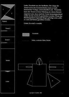 Schnitt und Infos für einen Gardecorps