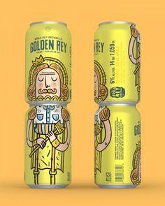 Noble Rey Brewing Co. Craft Packaging, Cool Packaging, Coffee Packaging, Bottle Packaging, Packaging Design, Beer Making Kits, Branding, Craft Beer Labels, Beer Label Design