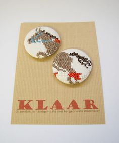 KLAAR cross stitch buttons