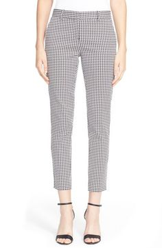 Theory 'Treeca CL' Houndstooth Print Pants available at #Nordstrom