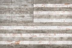 Stars and Stripes in White Painting Print on Wrapped Canvas