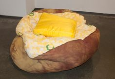 God bless you whoever you are that came up with the baked potato bean bag chair. Complete with satin butter pillow. Sign me up.