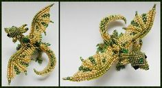 Dragon brooch v3 by Rrkra ~ I've never been into dragons and such - but this artist makes me want to wander a little bit more outside my comfort zone!