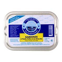Sardines à l'huile d'olive et au citron Bio - La Compagnie Bretonne du Poisson - Etre Gourmand