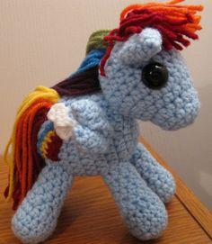 0ea2e1c9a535b Rainbow Dash with Cutie Mark - My Little Pony Friendship is Magic Amigurumi  Crocheted MLP Plush Doll
