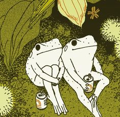 new FROGGY PRINT available in my INPRNT store link in bio. Note amphibians don't need to social distance I'm like 90 percent sure the virus… Illustration Inspiration, Illustration Art, Les Moomins, Arte Peculiar, Arte Indie, Aesthetic Art, Cute Art, Art Inspo, Art Reference